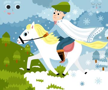 Martin přijíždí na bílém koni · Pigy.cz · pohádkové rádio · hry · omalovánky  · zábava pro děti